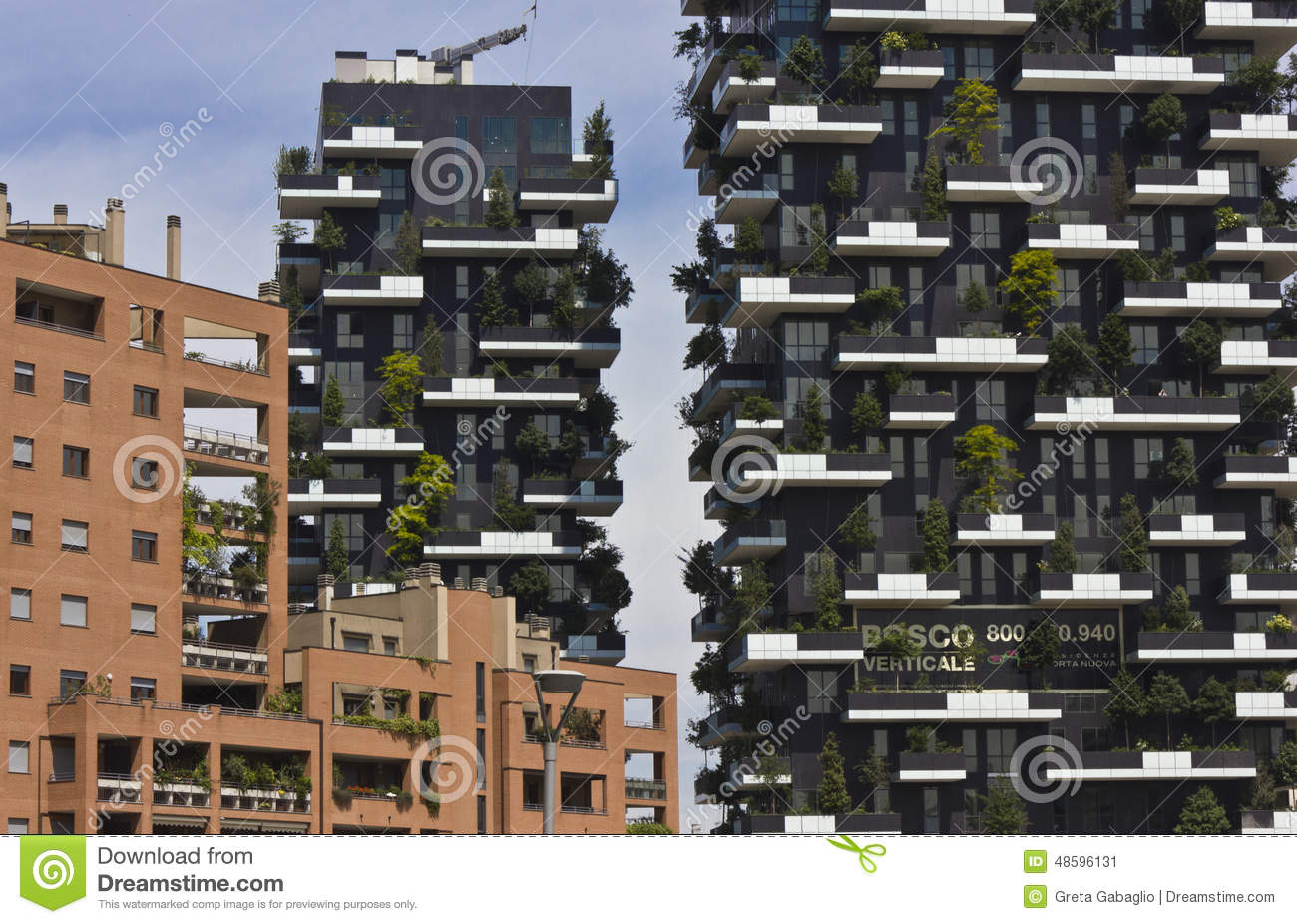 bosco verticale milan editorial photo image 48596131. Black Bedroom Furniture Sets. Home Design Ideas
