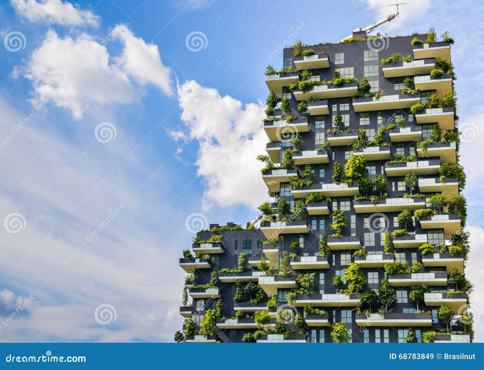 Bosco Verticale, Milan, Italy Stock Image - Image of nuova ...