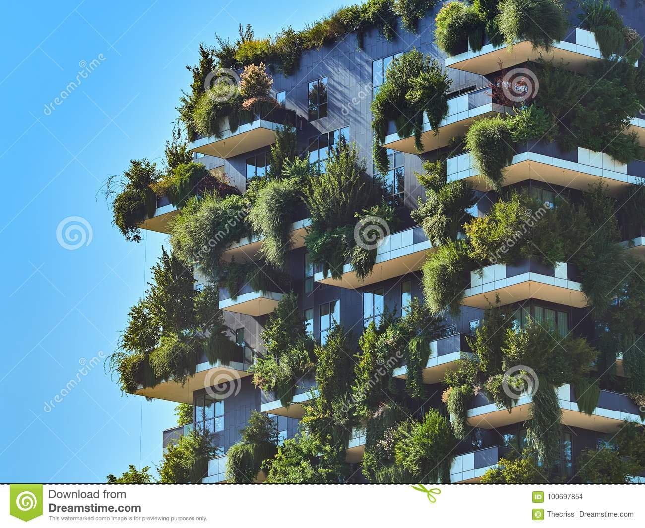 Bosco Verticale Vertical Forest. Designed by Stefano Boeri, sustainable architecture in Porta Nuova district, in Milan