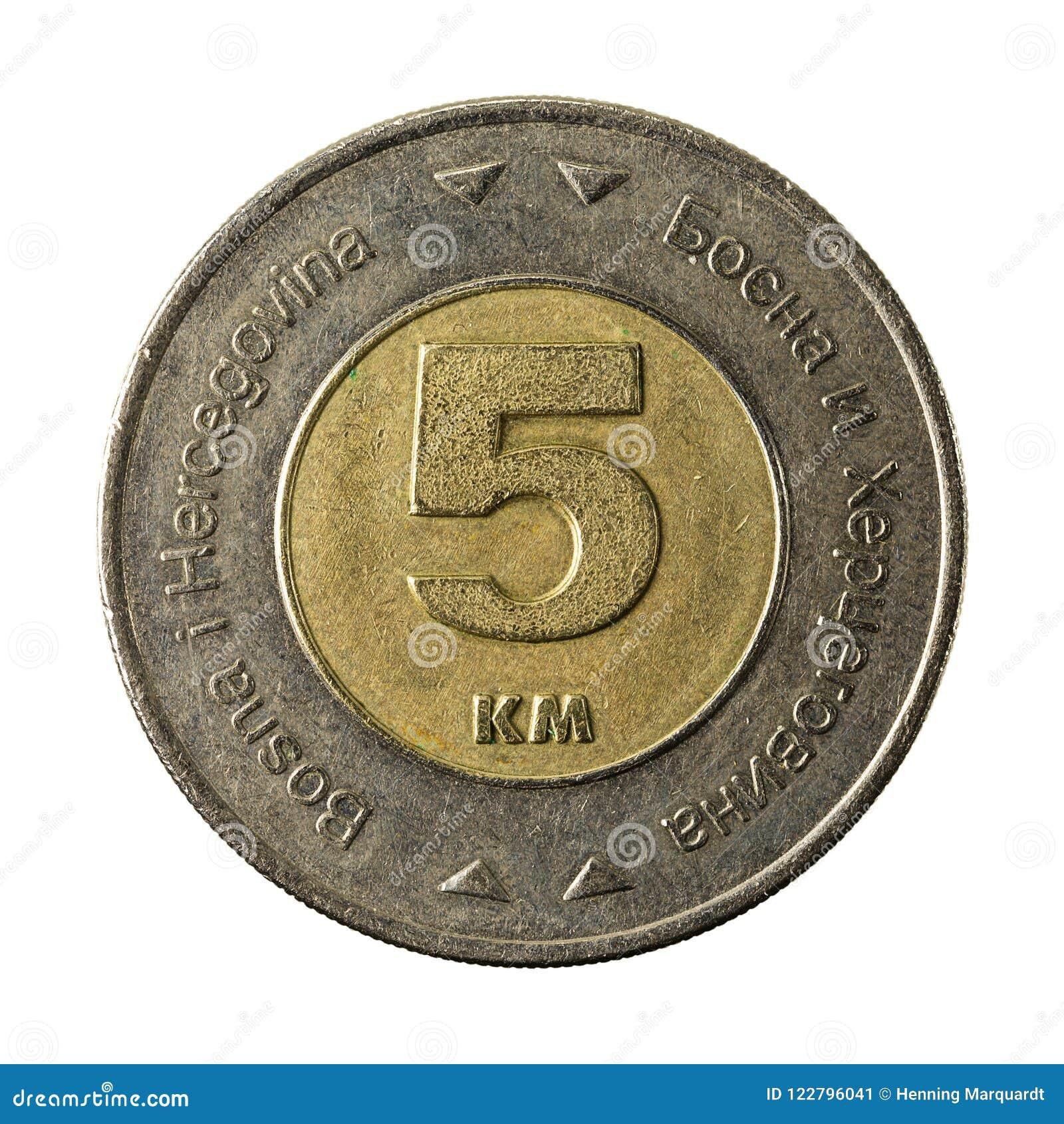 5 bosnia and herzegovina convertible mark coin 2009 obverse