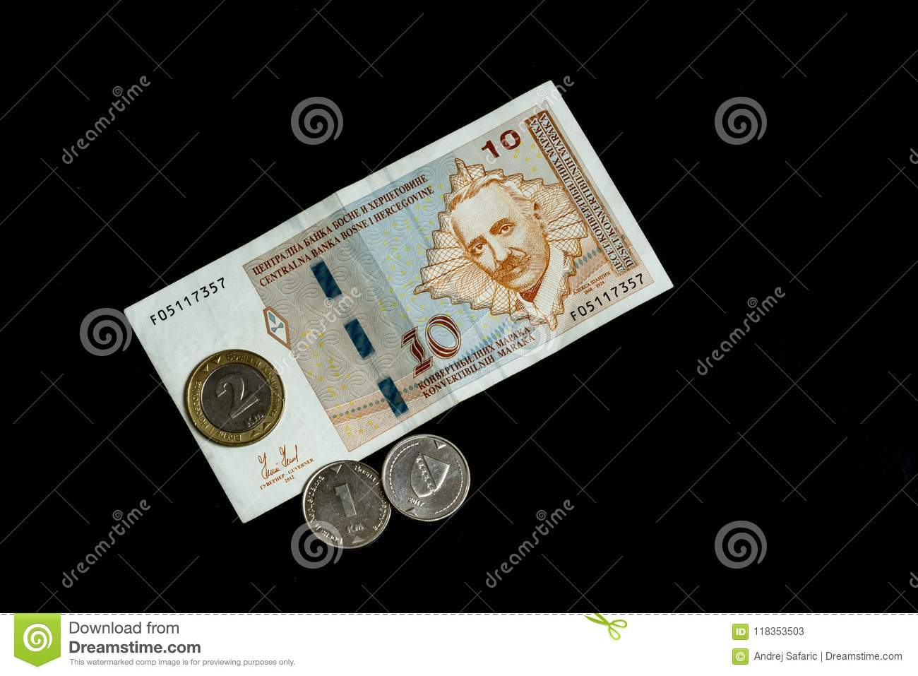Bosnia and Herzegovina Convertible Mark notes and coins