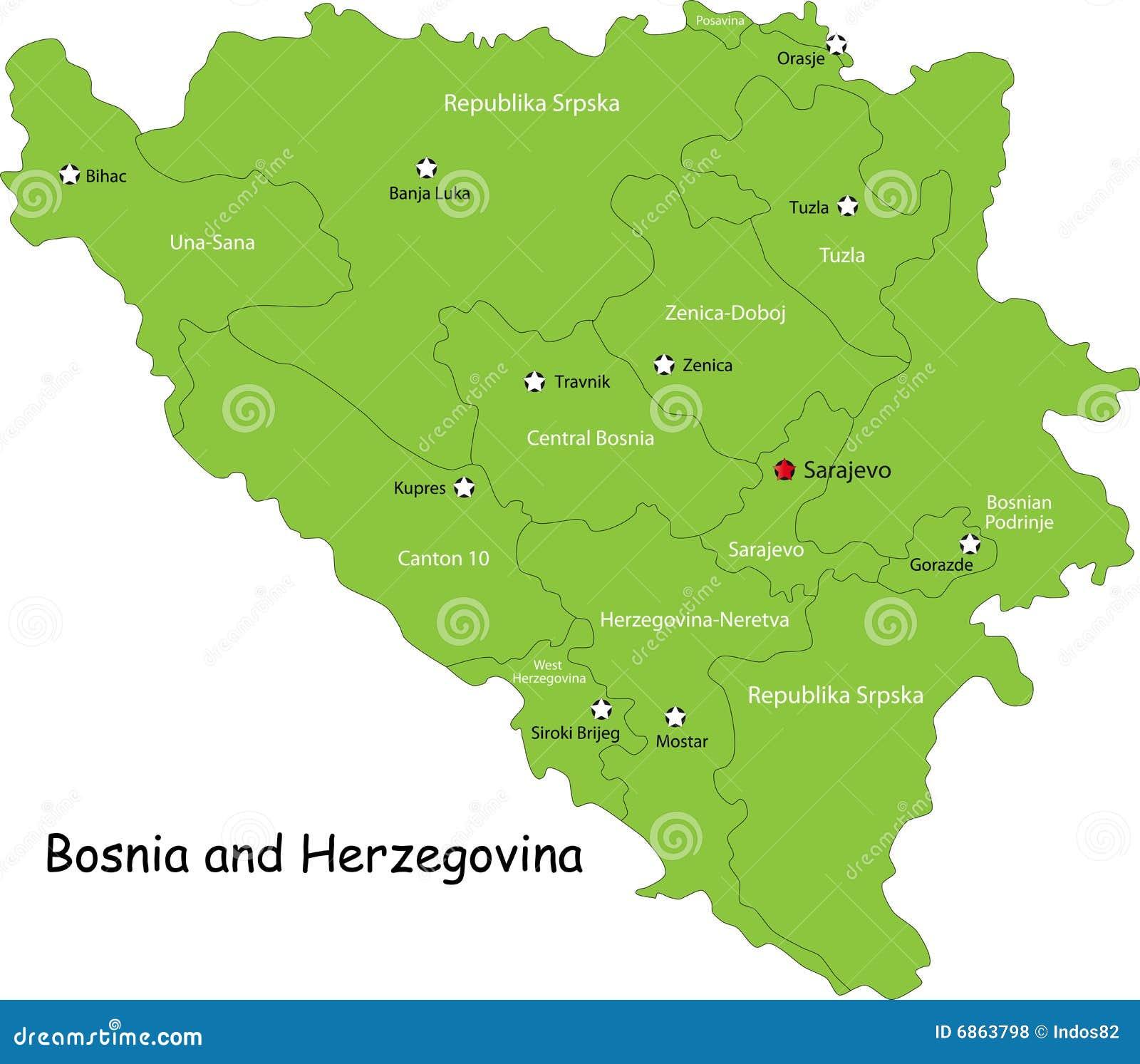 Map Of Bosnia And Herzegovina on