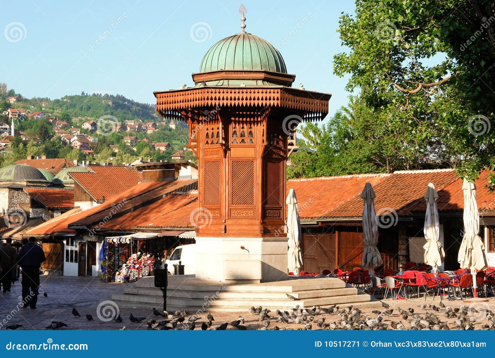Bosnienfount herzegovina historiska sarajevo