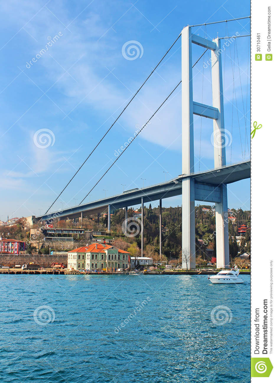 Bosphorus Bridge And Hatice Sultan Palace In Istanbul ...