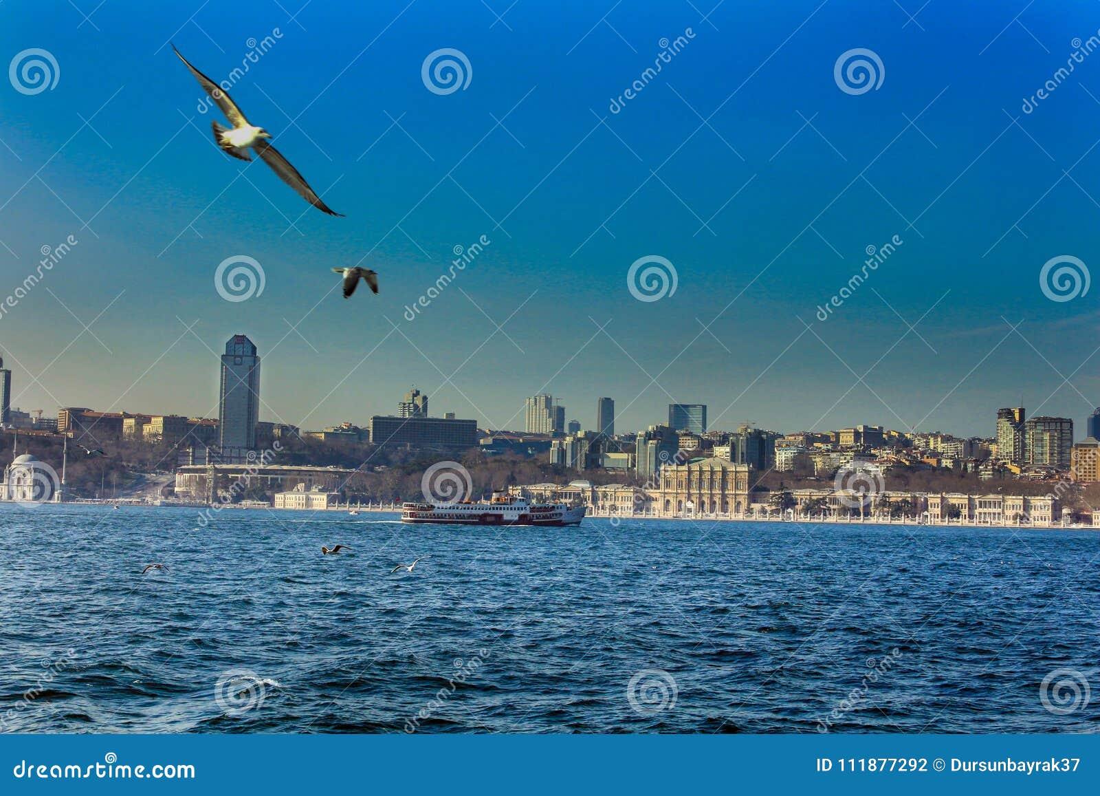Bosphorus Dolmabahce slott Istanbul