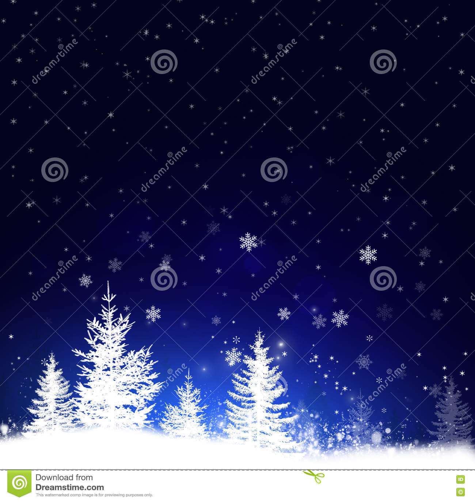 Bosque de la nieve del día de fiesta