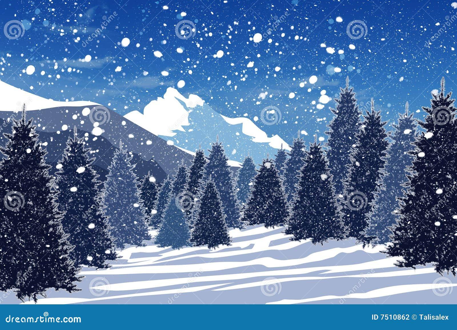 Bosque del invierno Nevado