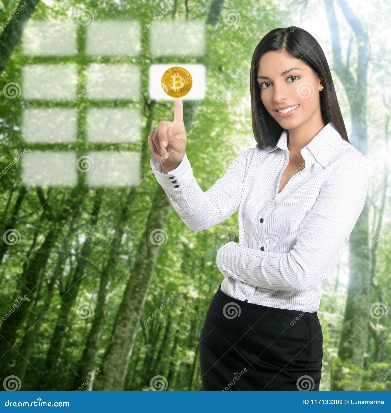 Bosque eléctrico del consumo y de la ecología de Bitcoin