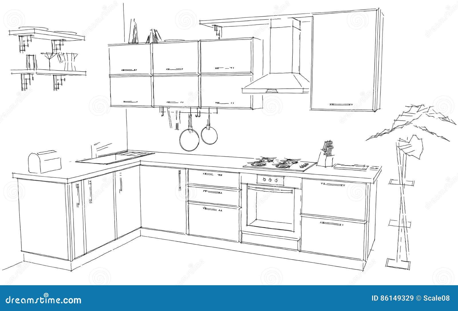Genial dibujo de cocina im genes entre cocina con muebles for Programas de dibujo de cocinas gratis