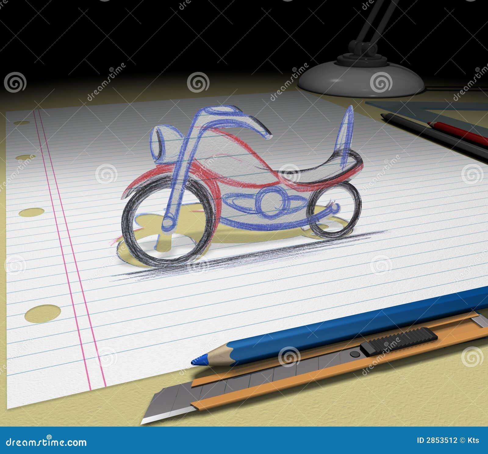 Bosqueje su ideal (la motocicleta)