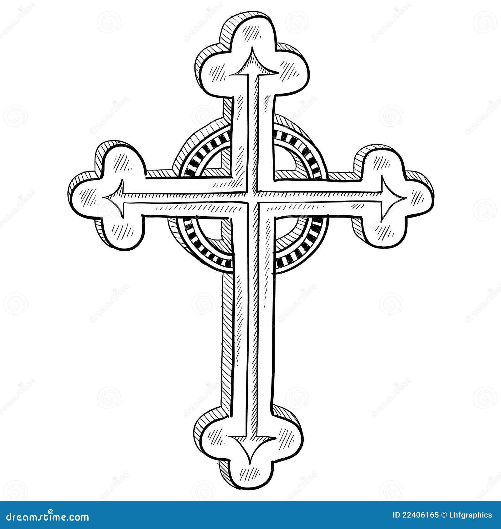 Bosquejo cruzado ortodoxo