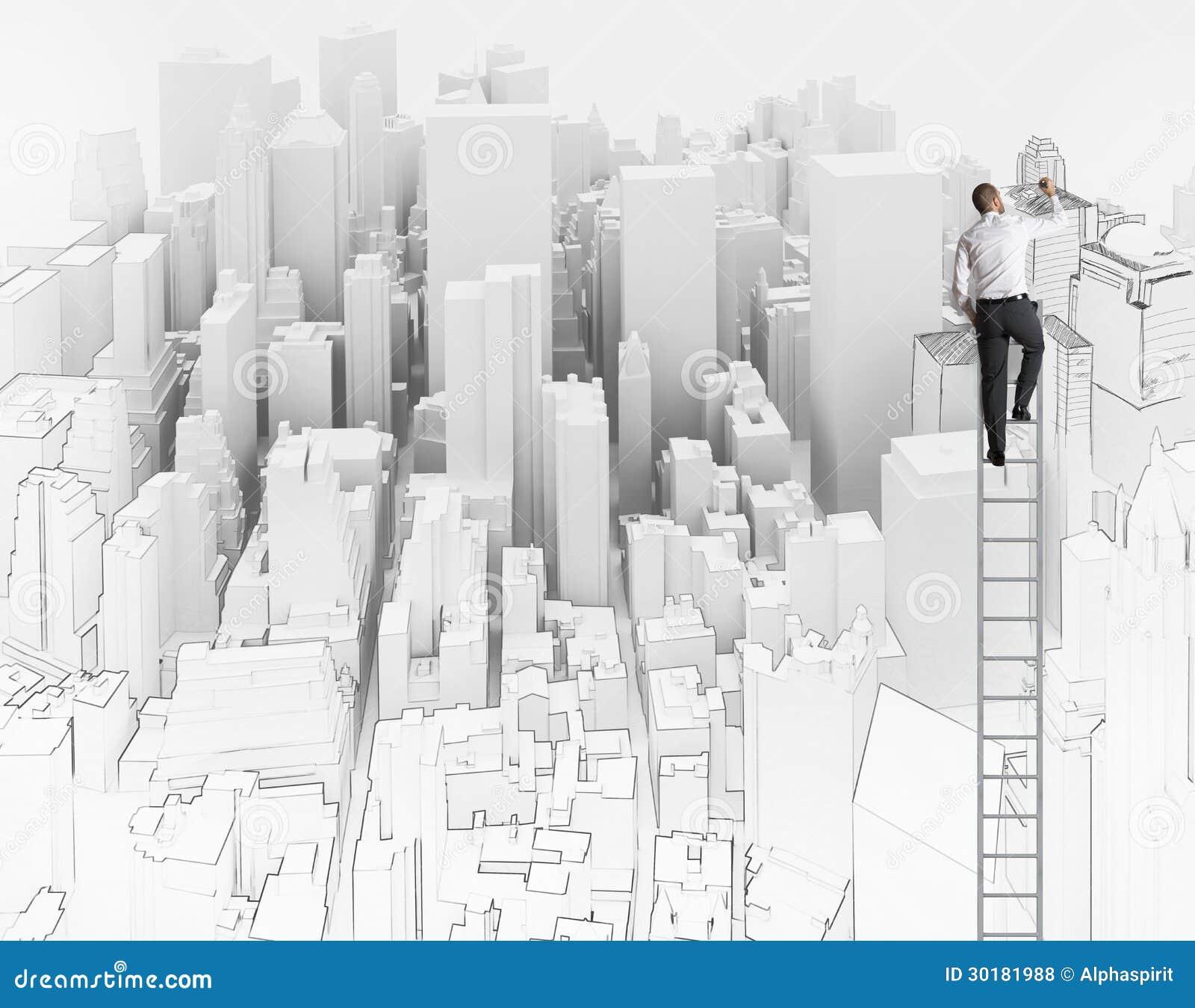 Bosquejo de un arquitecto fotos de archivo libres de for Immagine di un disegno di architetto