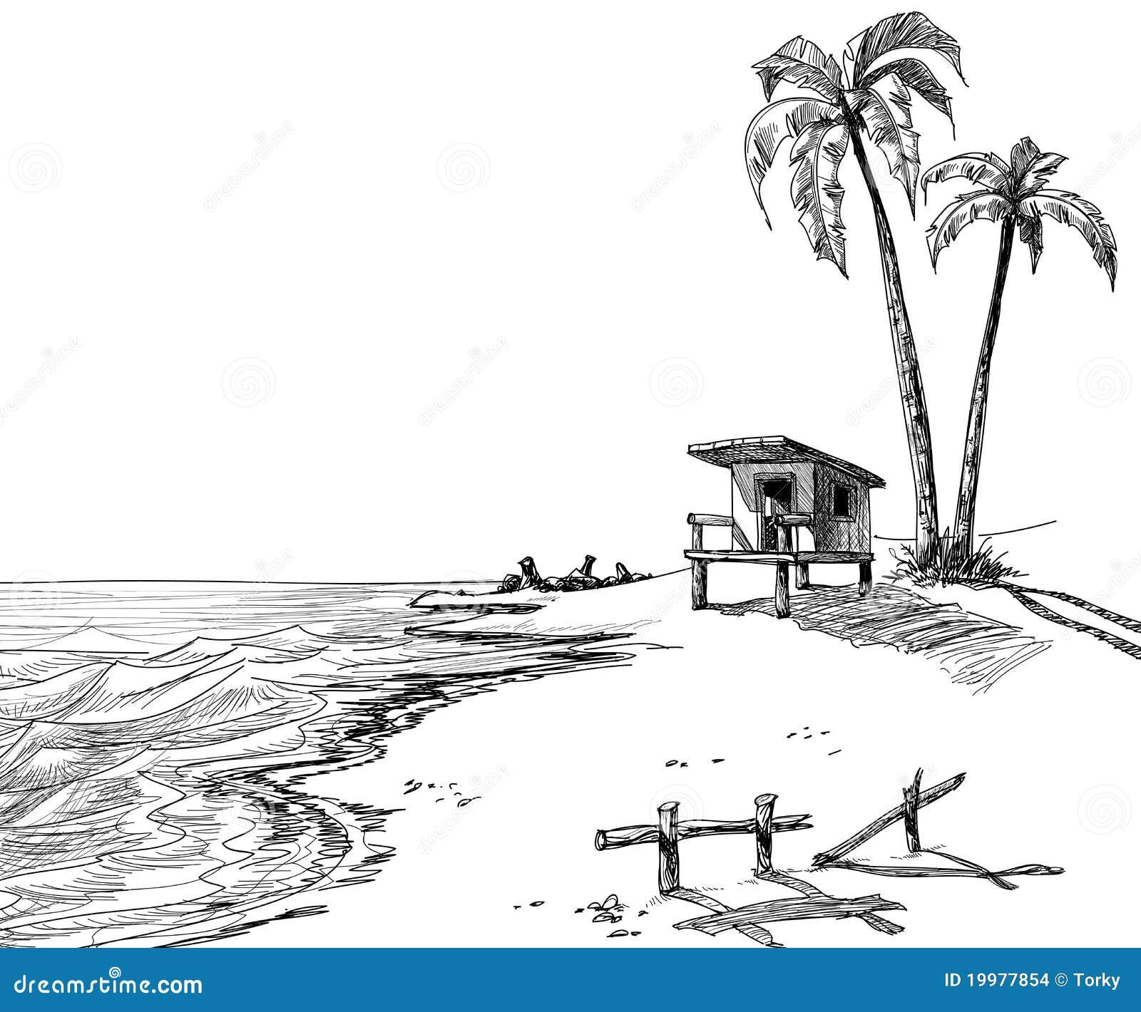 beach house clip art
