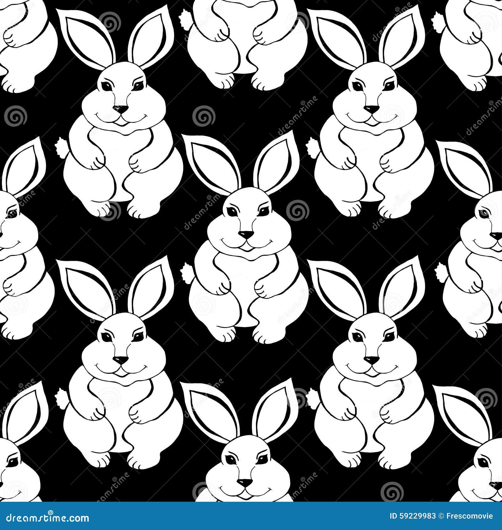 Download Bosquejo del conejo ilustración del vector. Ilustración de lindo - 59229983