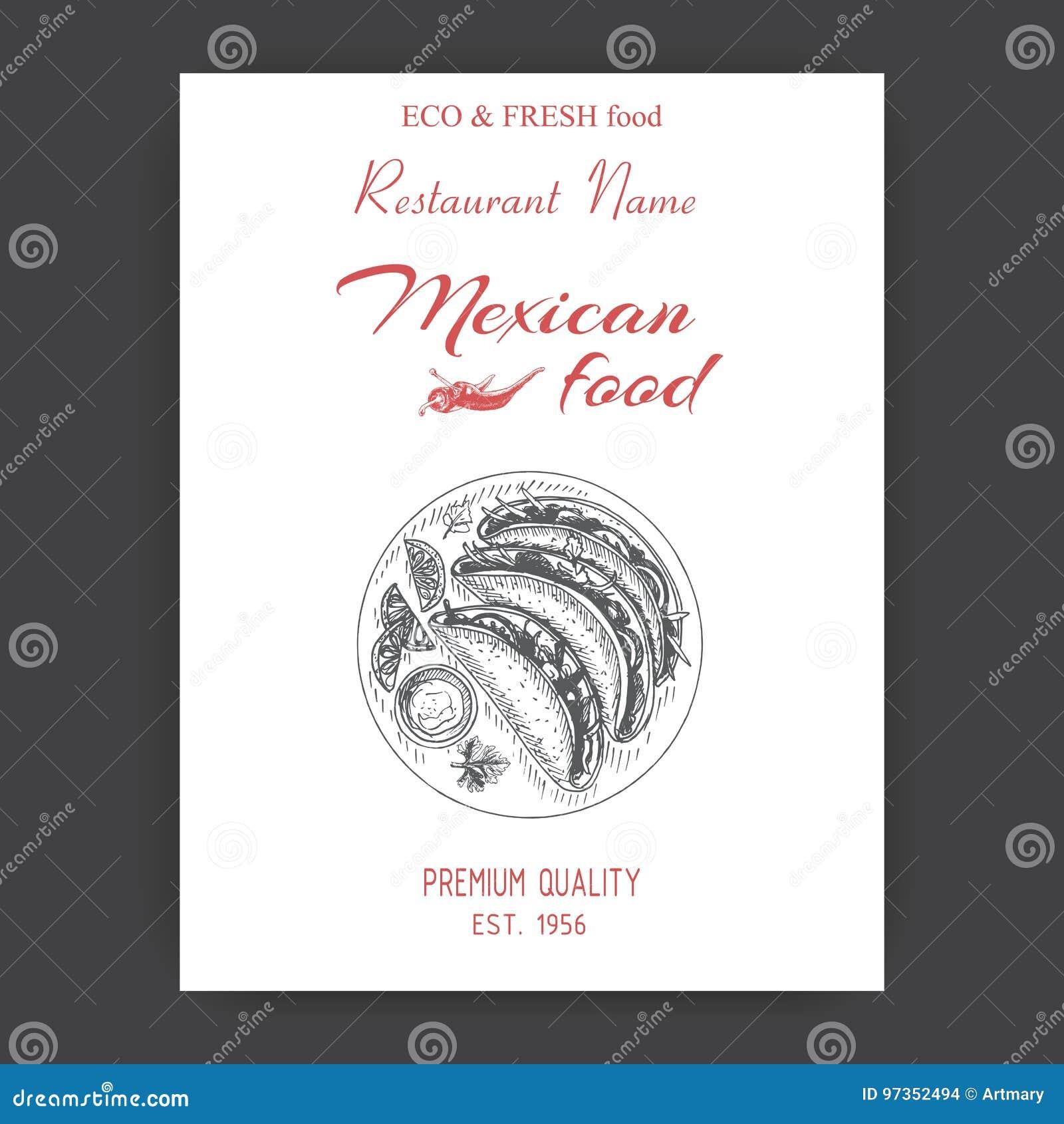 Bosquejo Del Ejemplo Del Vector - Comida Mexicana Cocina Del ...