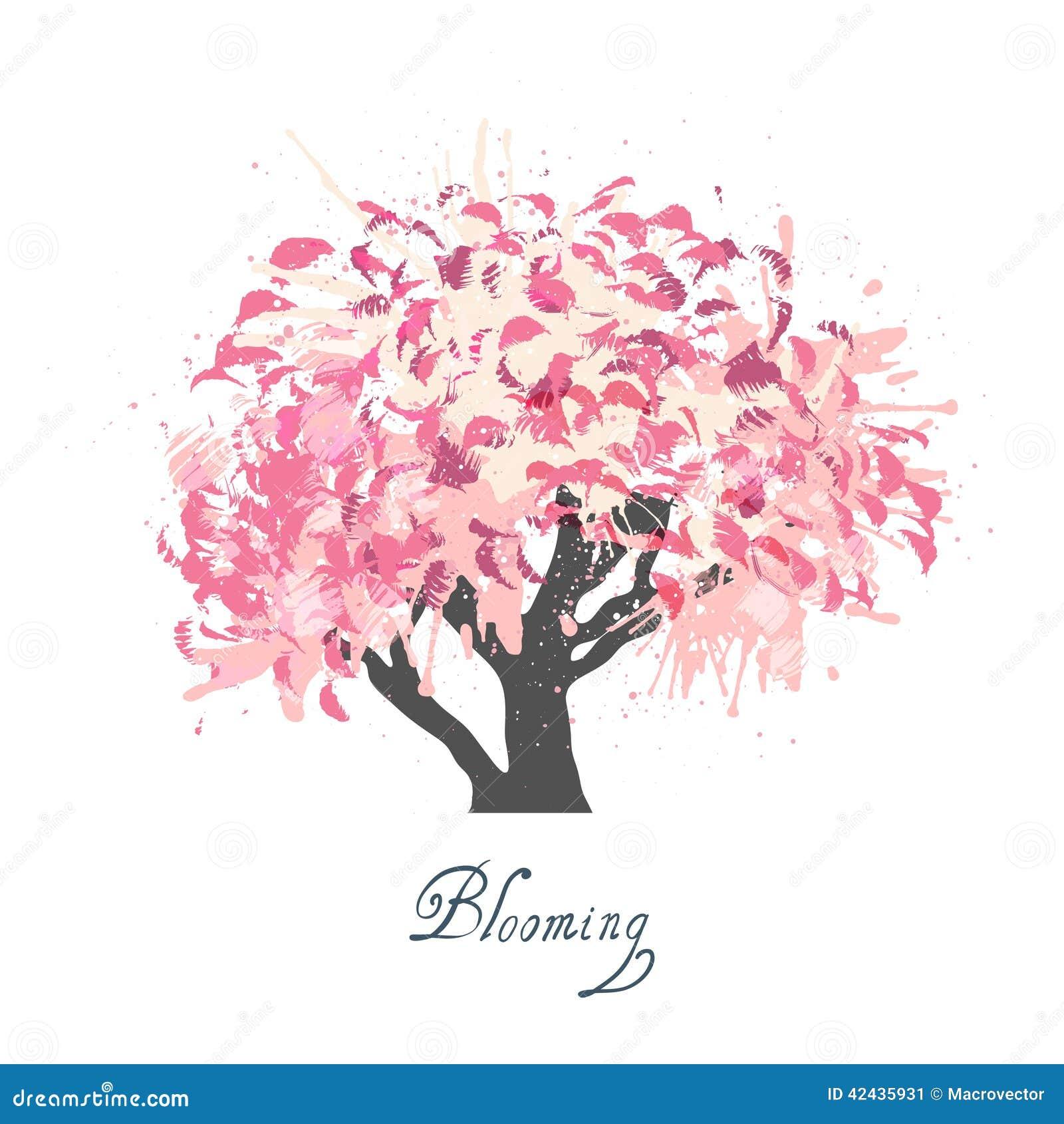 Bosquejo del flor del manzano