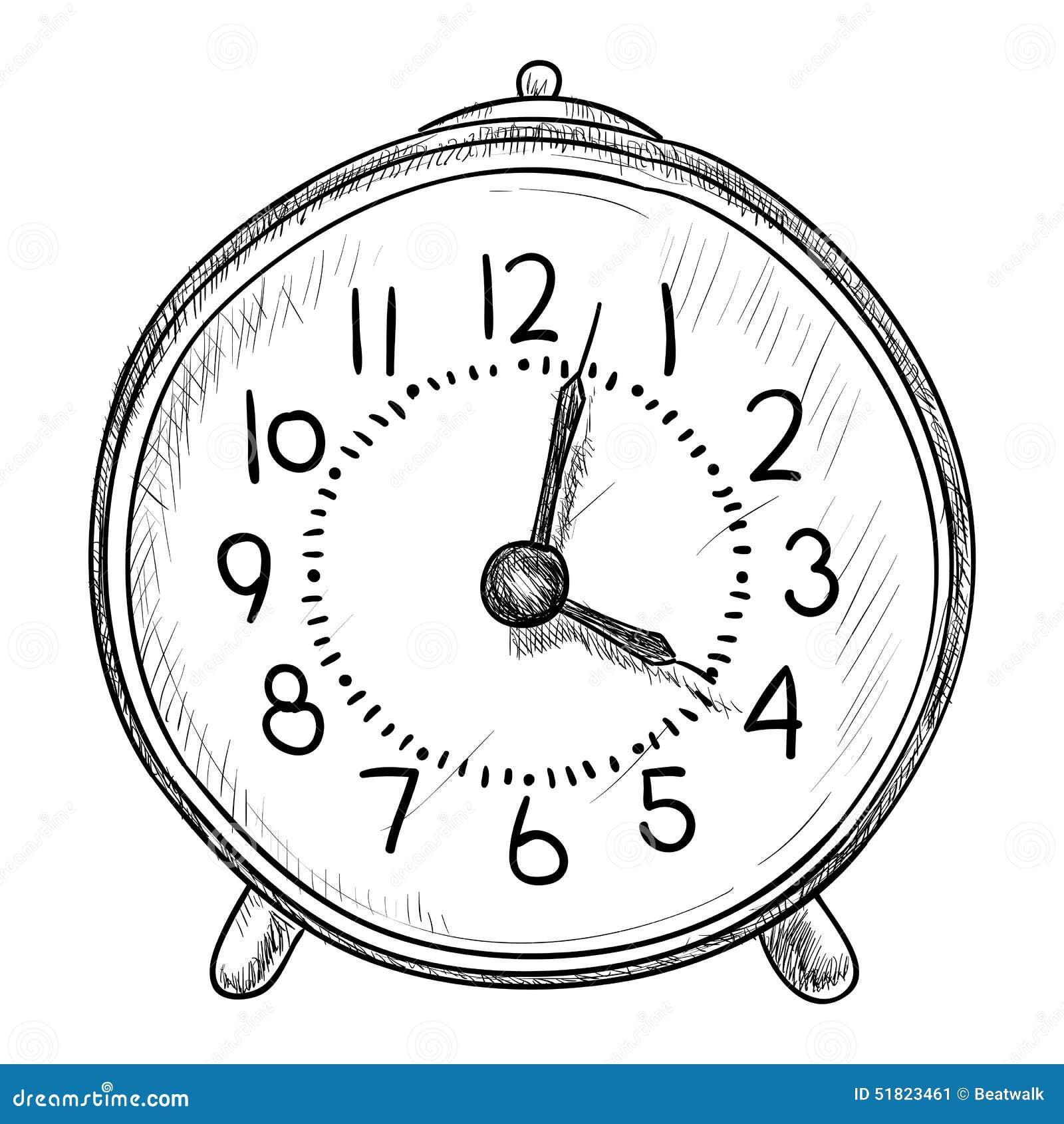 Ilustración Del Reloj Bosquejo Bosquejo Del Del Ilustración Bosquejo Reloj Vector Vector wvy80mnNO