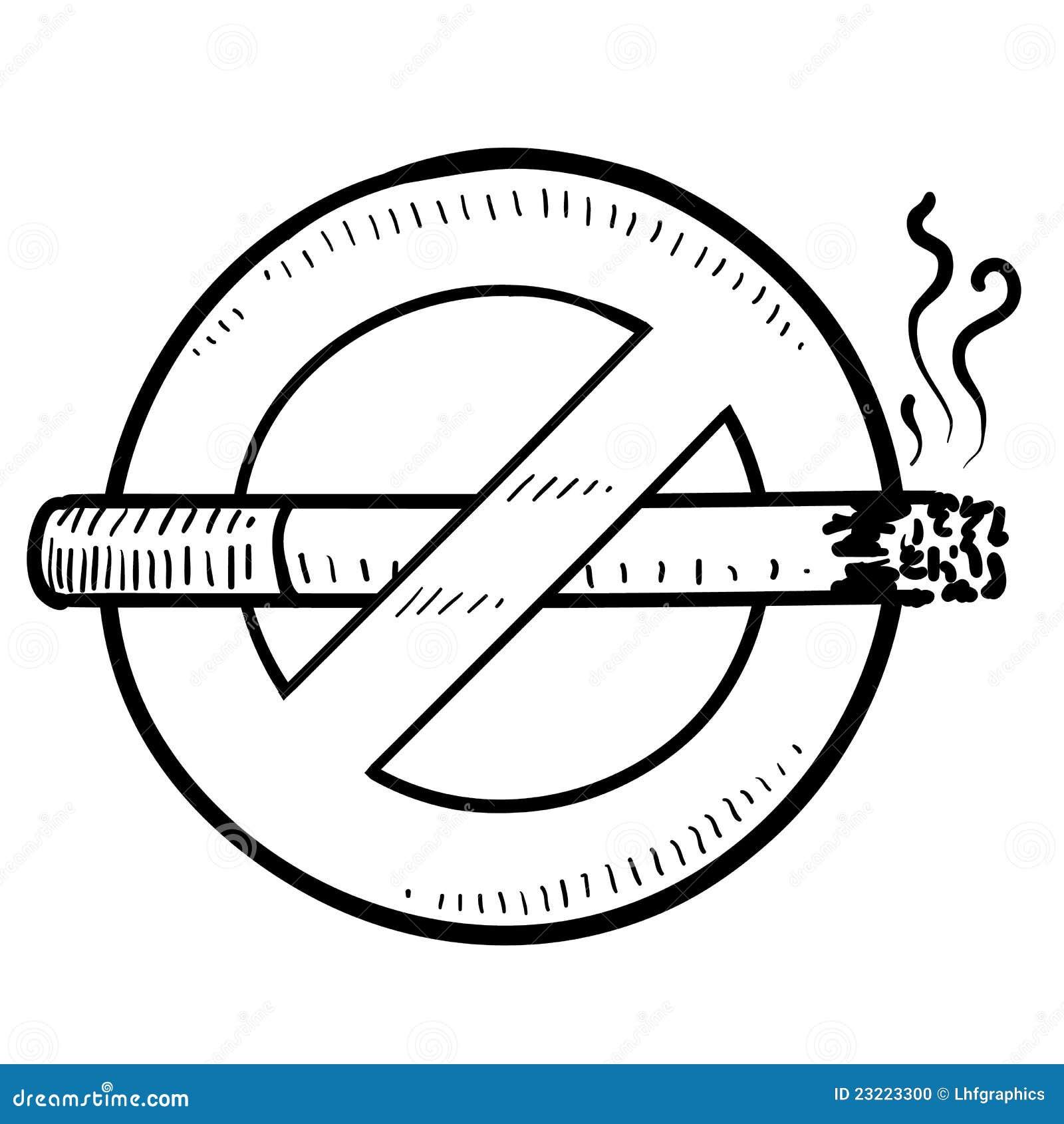 Bosquejo No Fumador De La Muestra Ilustración del Vector ...
