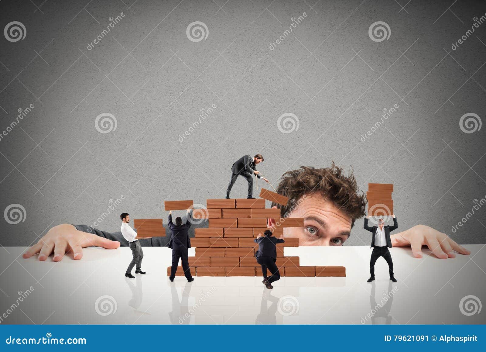 Boss construye a un equipo del negocio