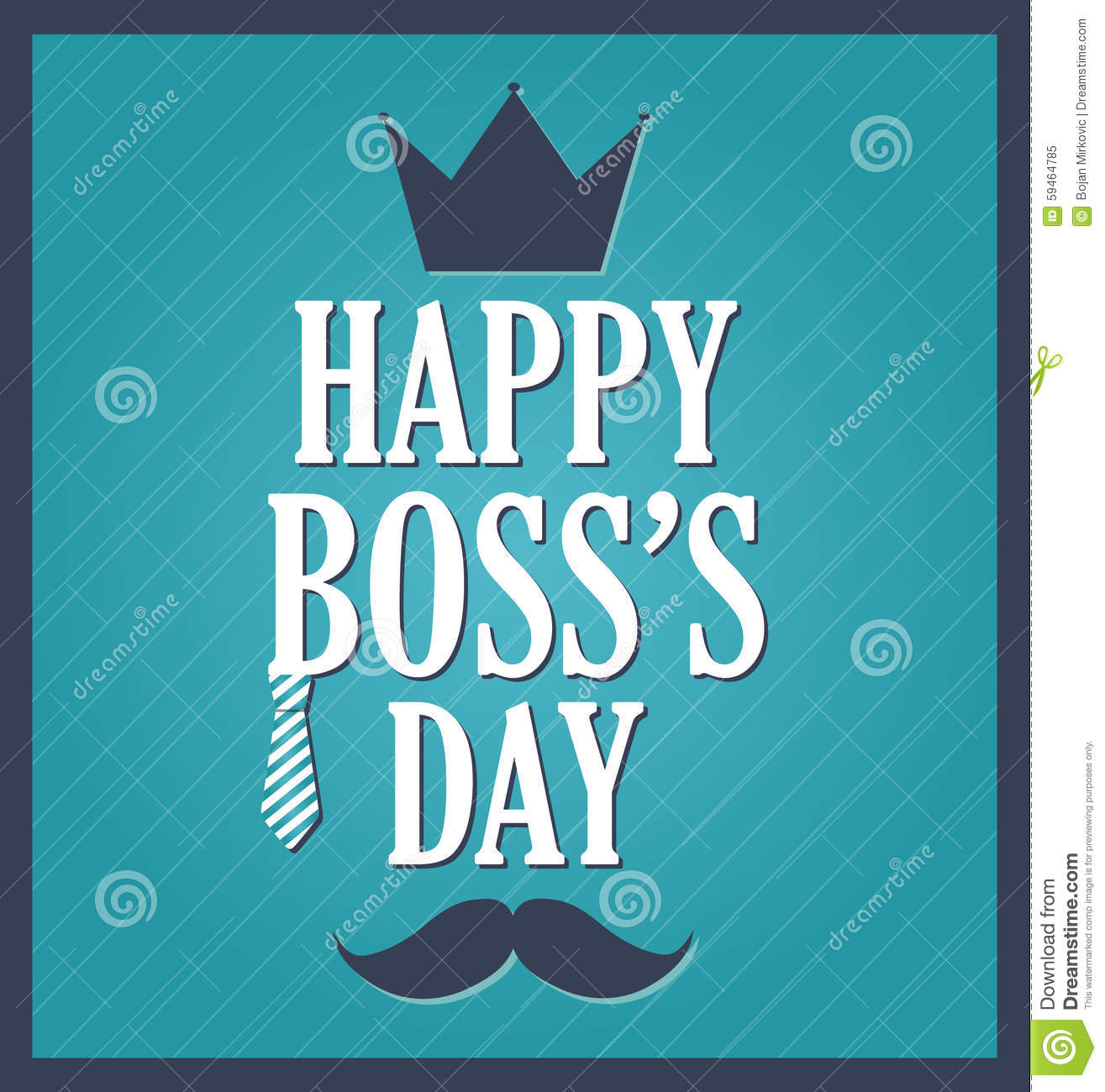 Boss day greeting template blue background dark blue frame stock boss day greeting template blue background dark blue frame m4hsunfo