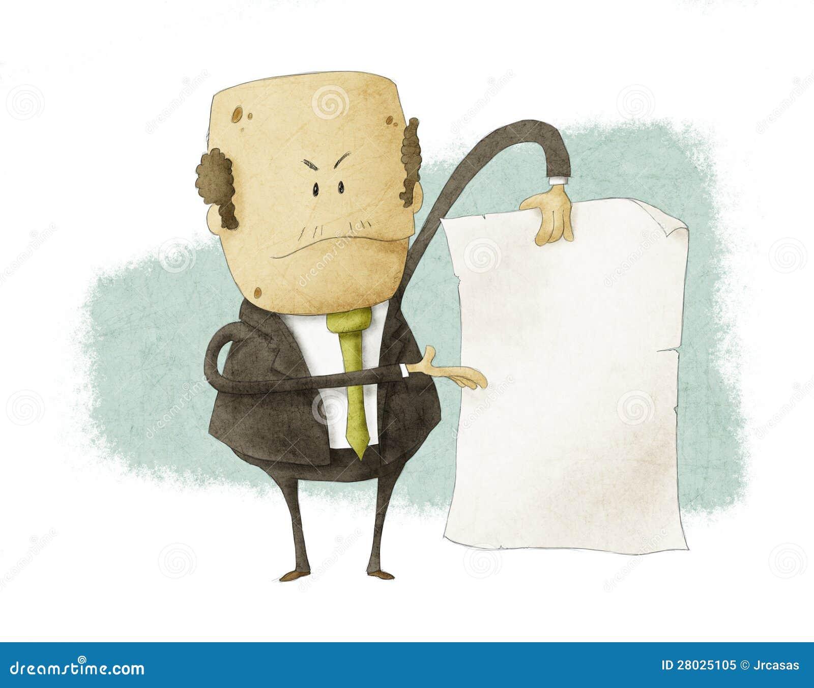 Boss que se considera vacío escribe el papel