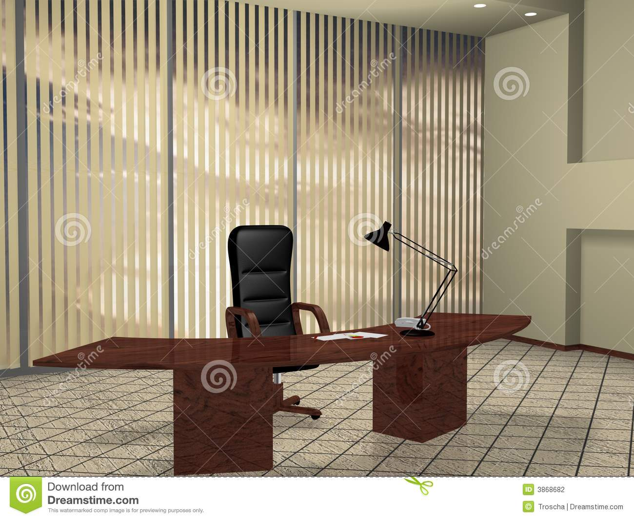 Boss Room Stock Photography Image 3868682