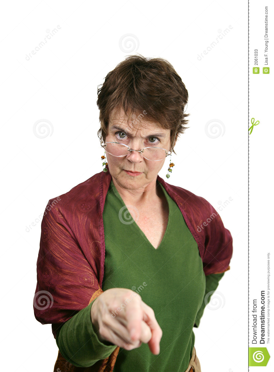 bossy, angry looking middle aged woman pointing her finger at you ...