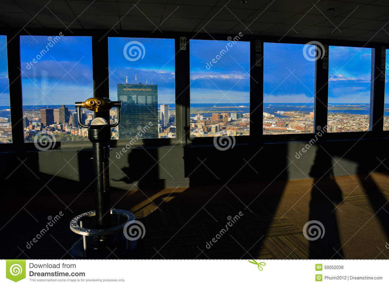 Boston city view from Observation Deck