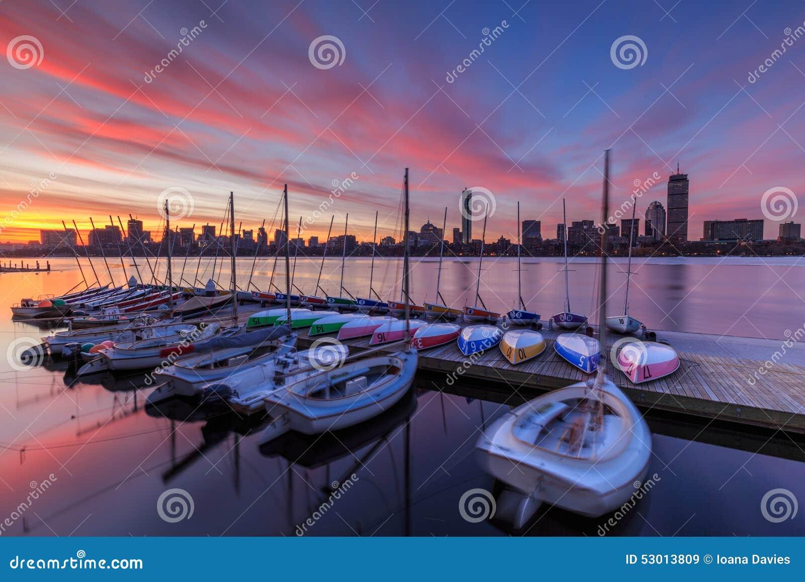 Boston dawn skyline