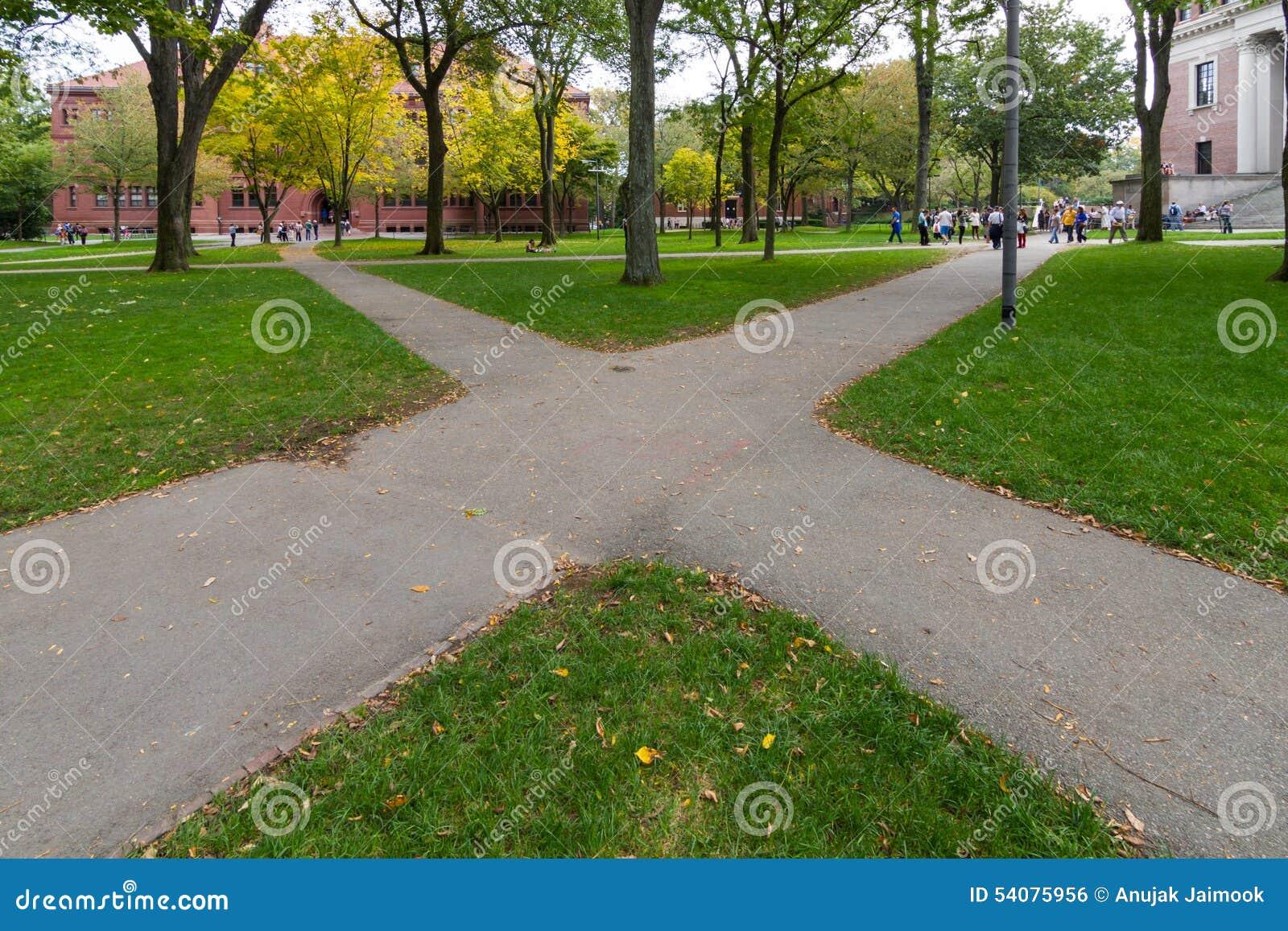 Boston in de herfst, de V.S.