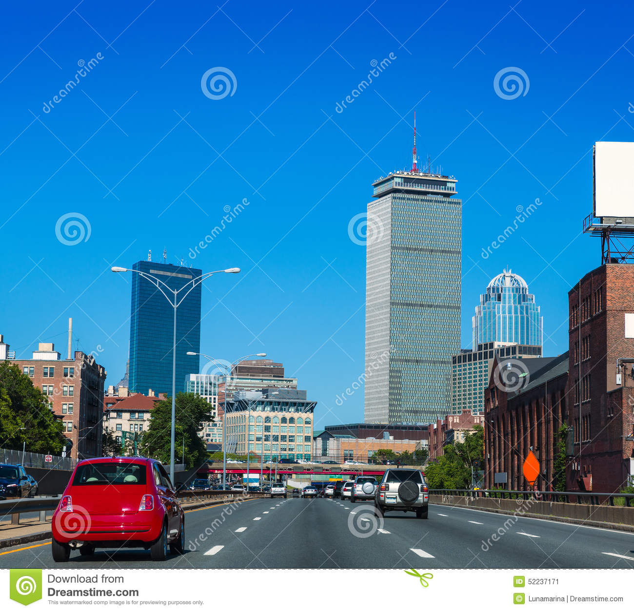 Download Boston Downtown Street Traffic Massachusetts Stock Image - Image of cityscape, places: 52237171