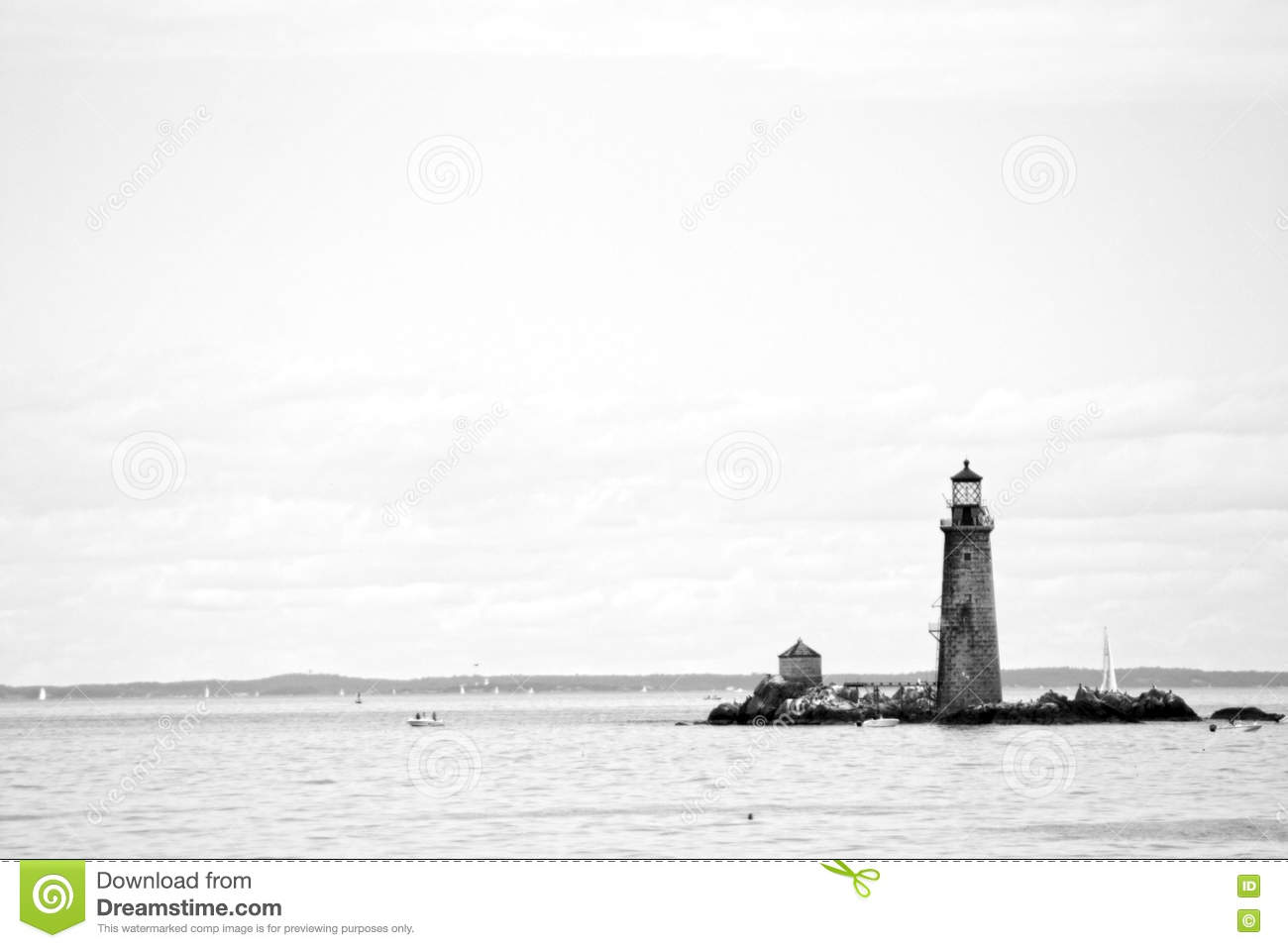 Boston Harbor lighthouse is the oldest lighthouse in New England.