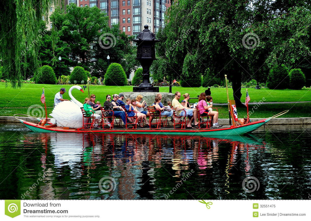 Boston ma swan boat in the boston public garden editorial image image 32551475 Boston public garden map