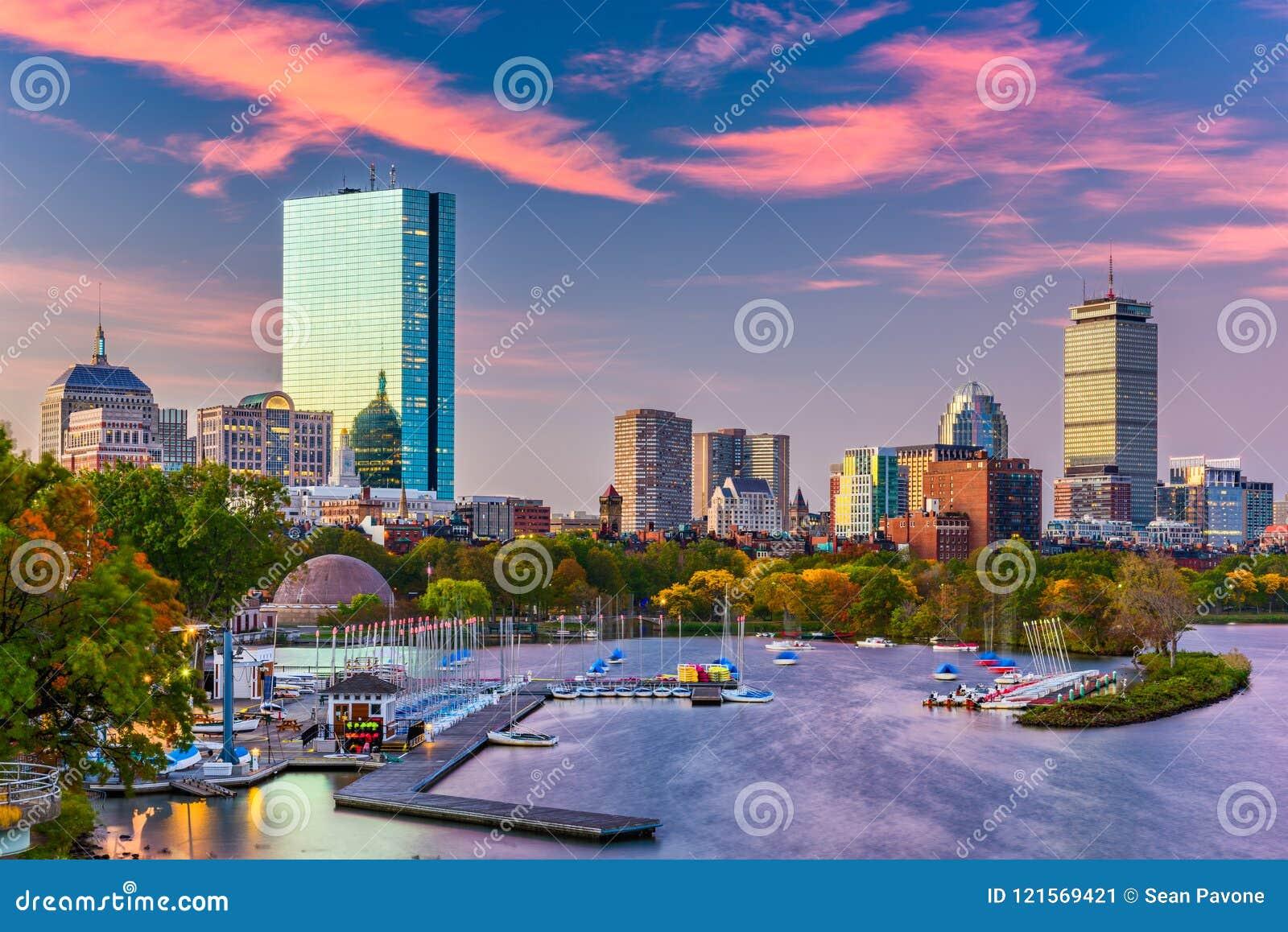 Boston, Massachusetts, USA River Skyline