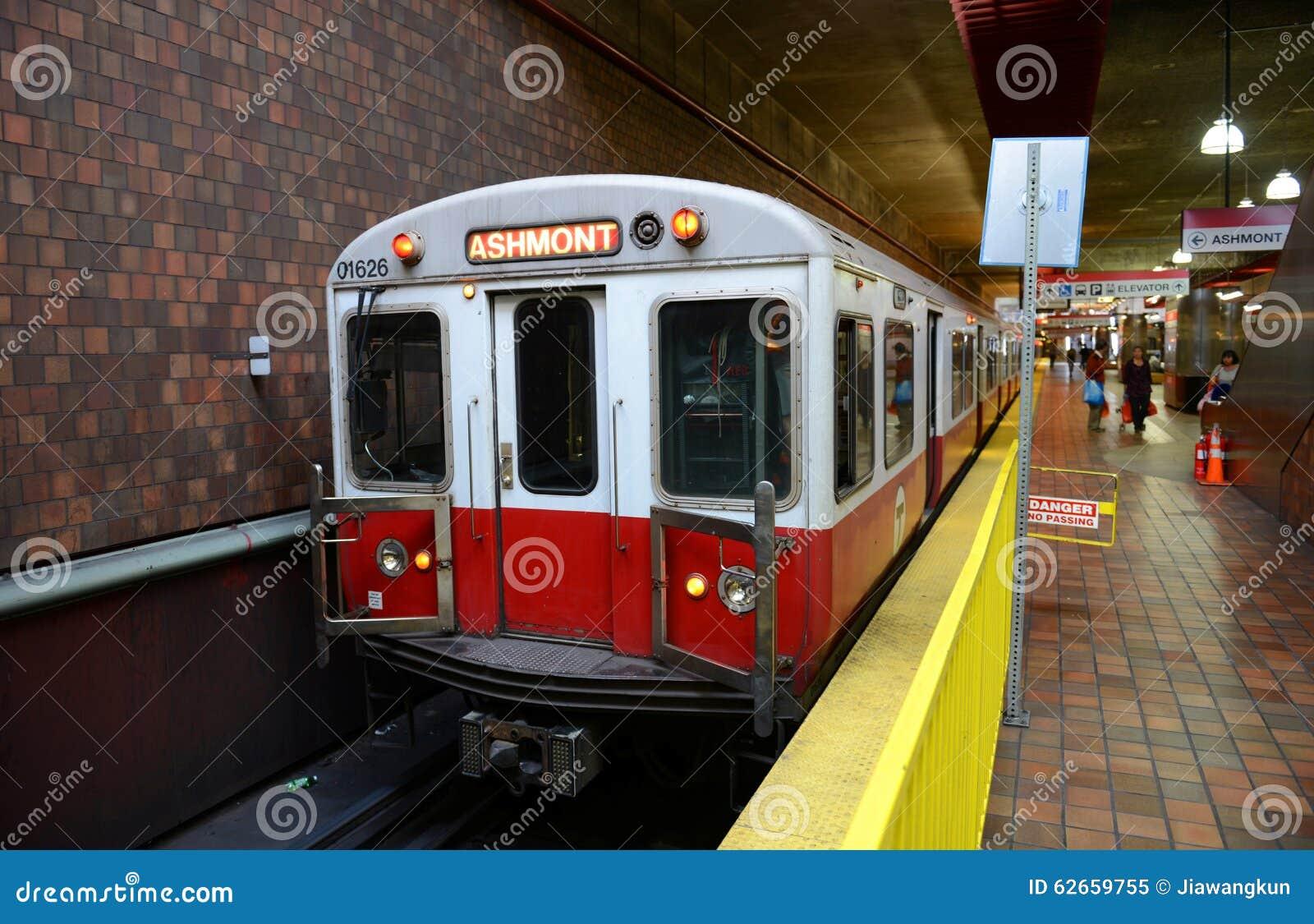 Boston Metro Red Line, Massachusetts, USA Editorial Image - Image of