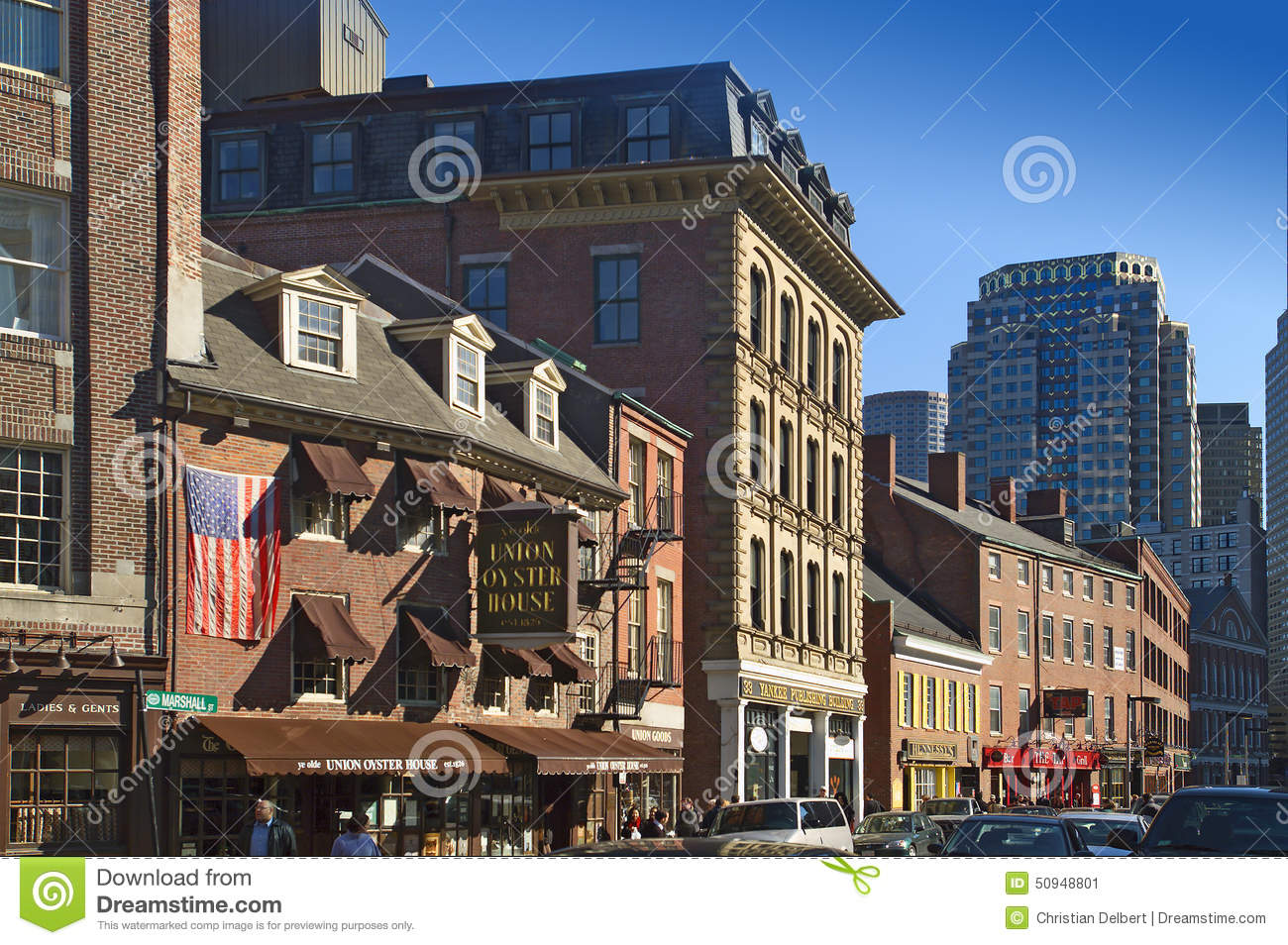 Boston North End Restaurants Editorial Photo Image Of Spring Town