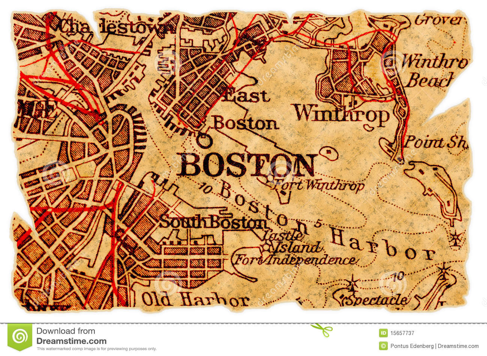 Old paris street map royalty free stock photo image 15885665 - Boston Old Map Royalty Free Stock Photography