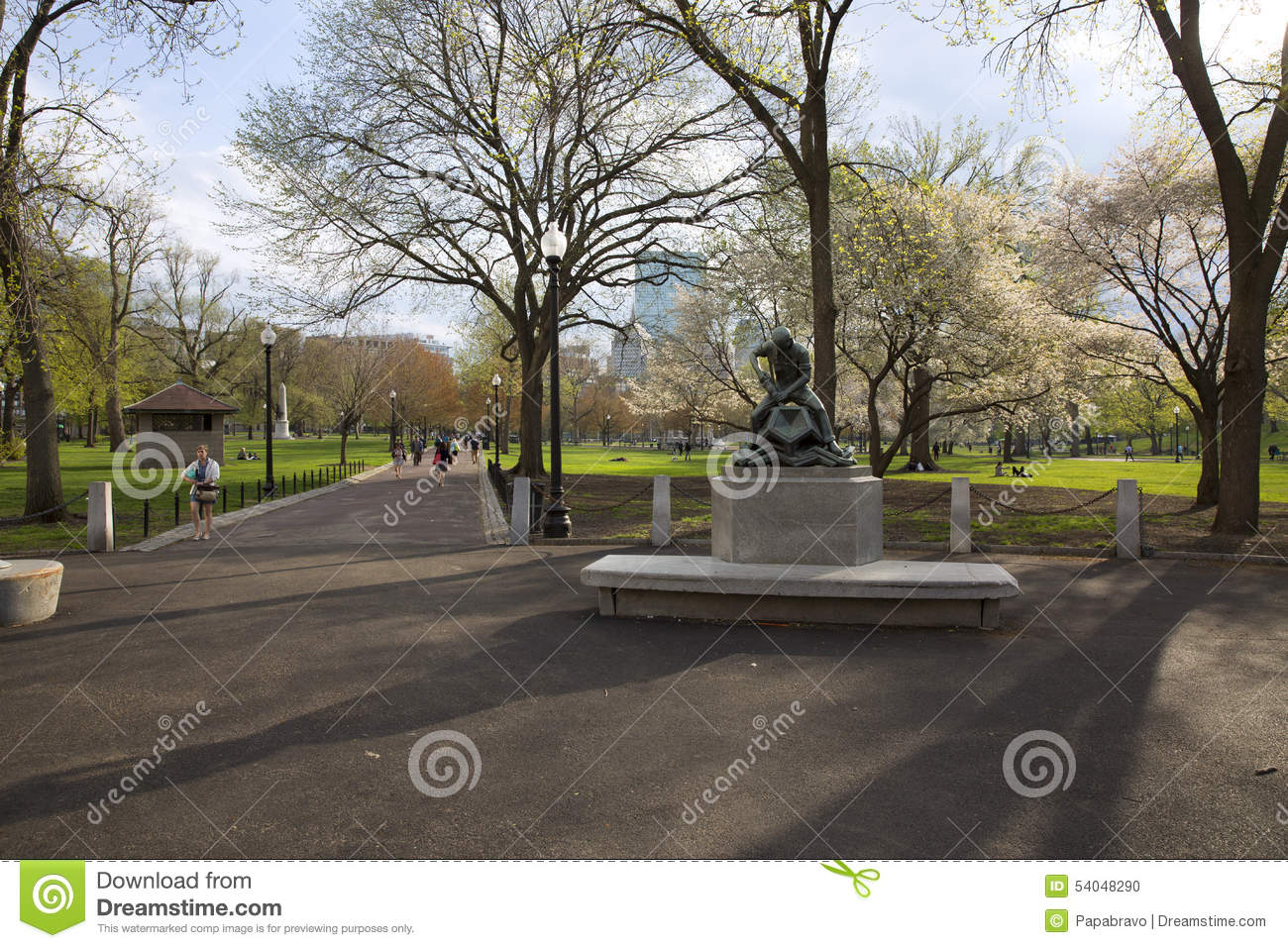 Boston Public Garden With First Signs Of Spring Editorial Image Image 54048290