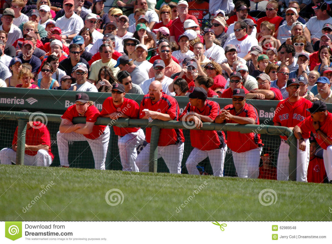 Boston Red Sox Dugout Editorial Stock Photo - Image: 62989548