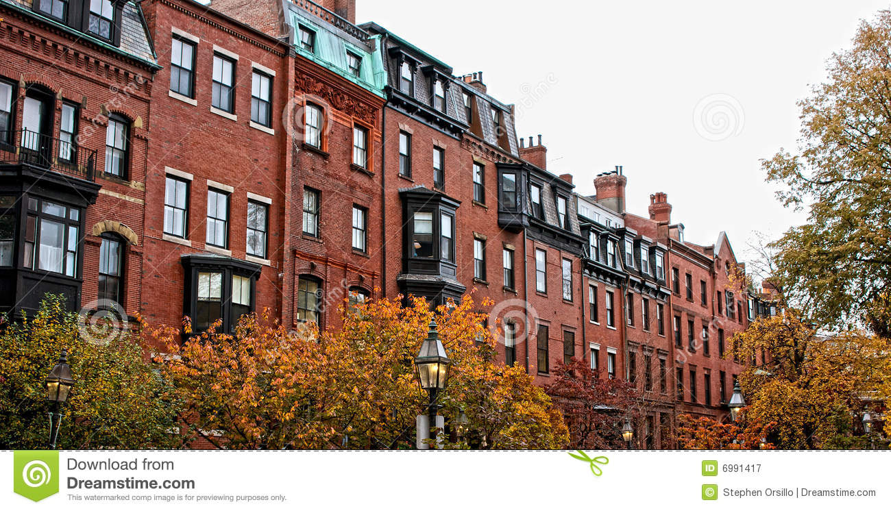 Boston Row Houses Royalty Free Stock Photography - Image ...