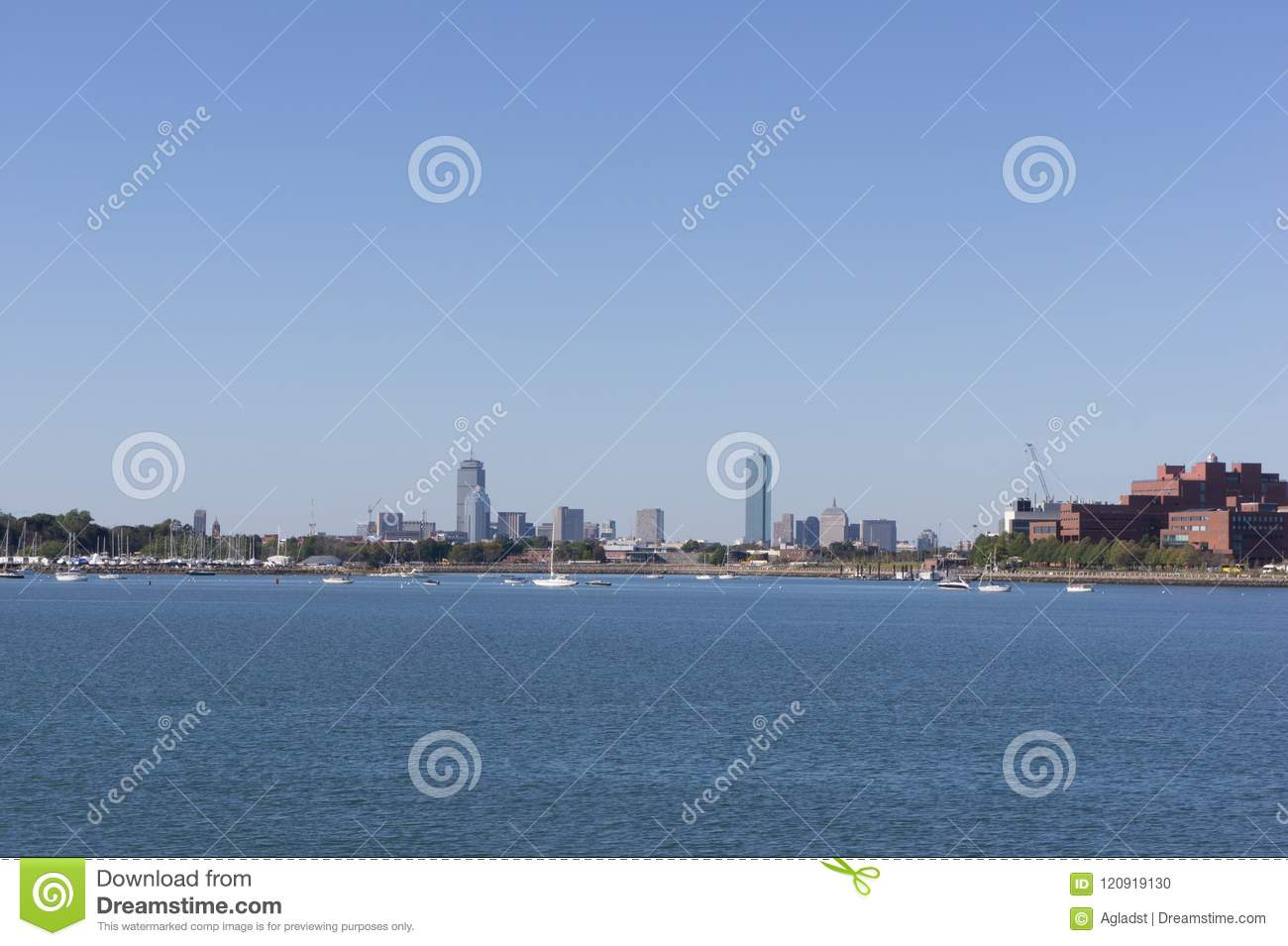 Boston Skyline as seen from Quincy