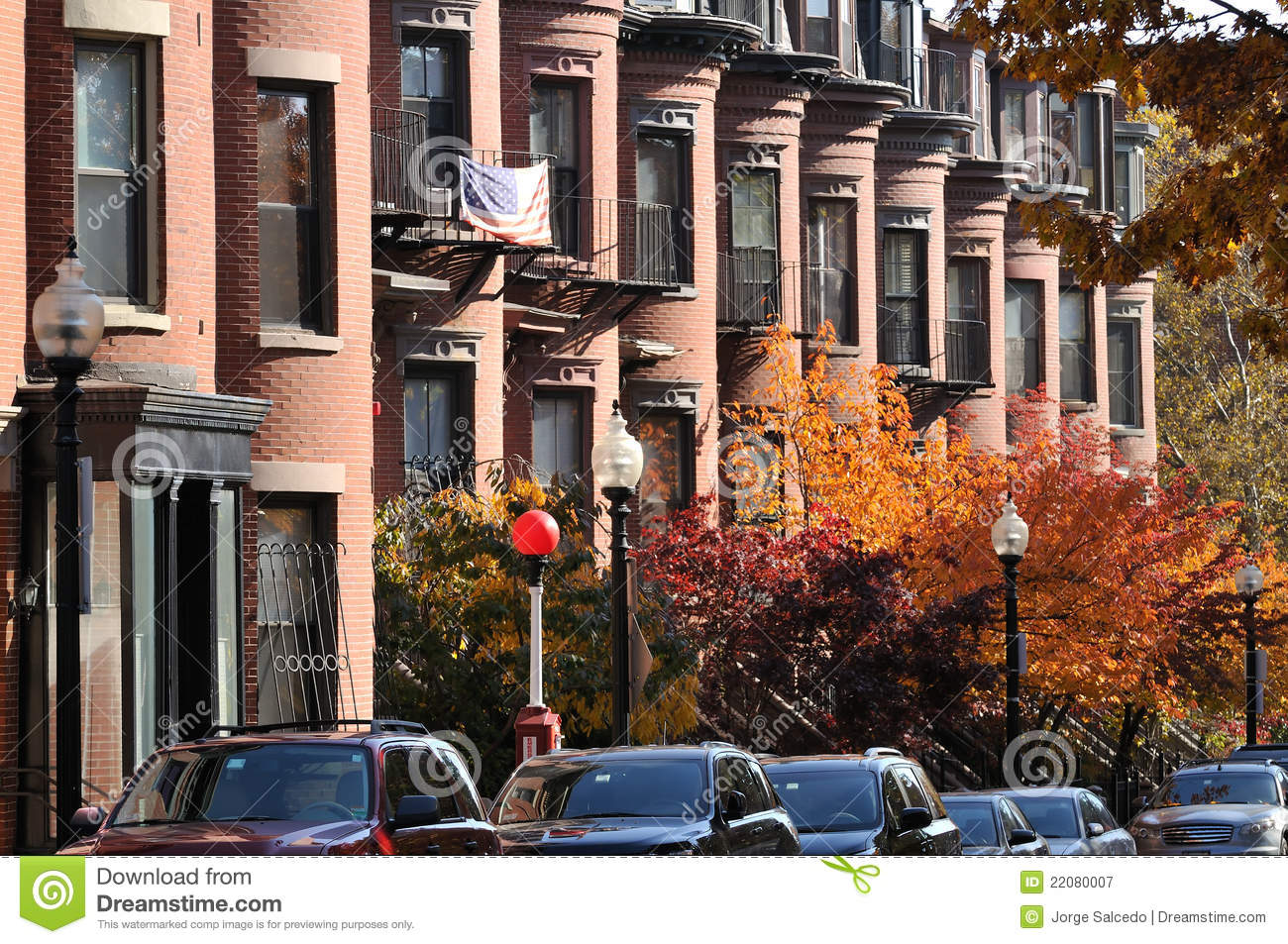 Nice Download Boston South End Apartments Stock Image   Image Of Autumn,  Residential: 22080007