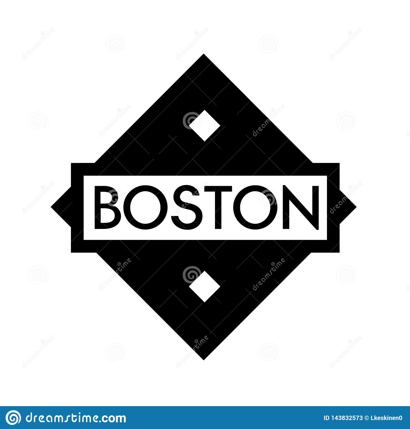 BOSTON-Stempel auf Wei?