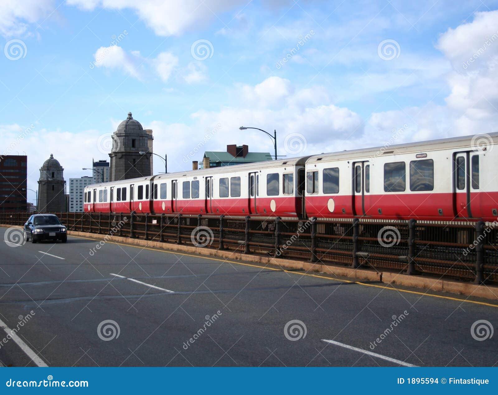 Boston Subway Train Stock Images