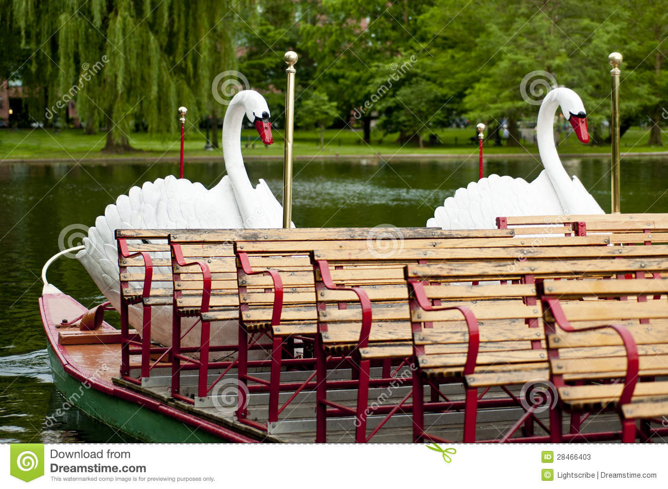 Download Boston Swan Boats stock image. Image of spring, relax - 28466403
