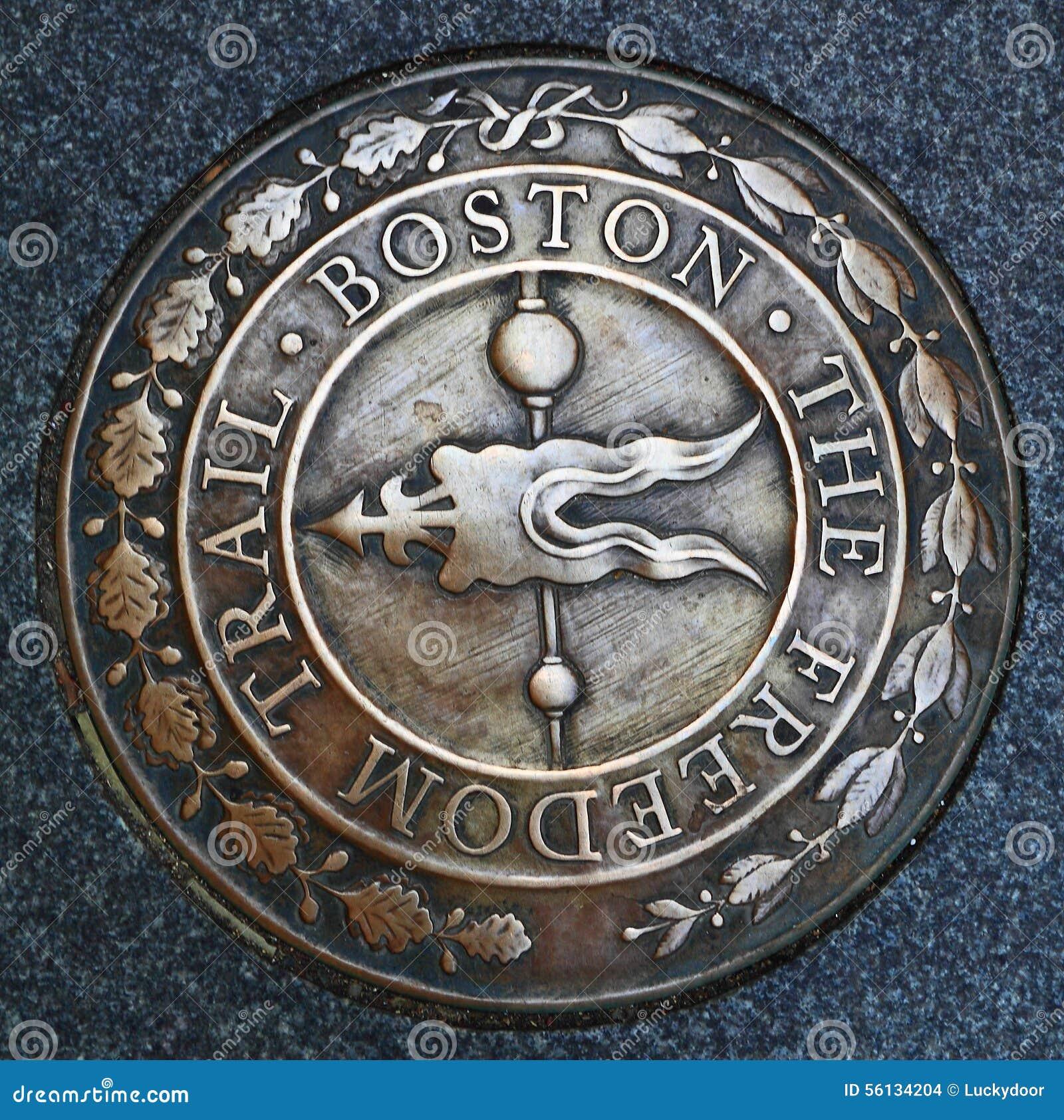 Boston wolności śladu emblemat
