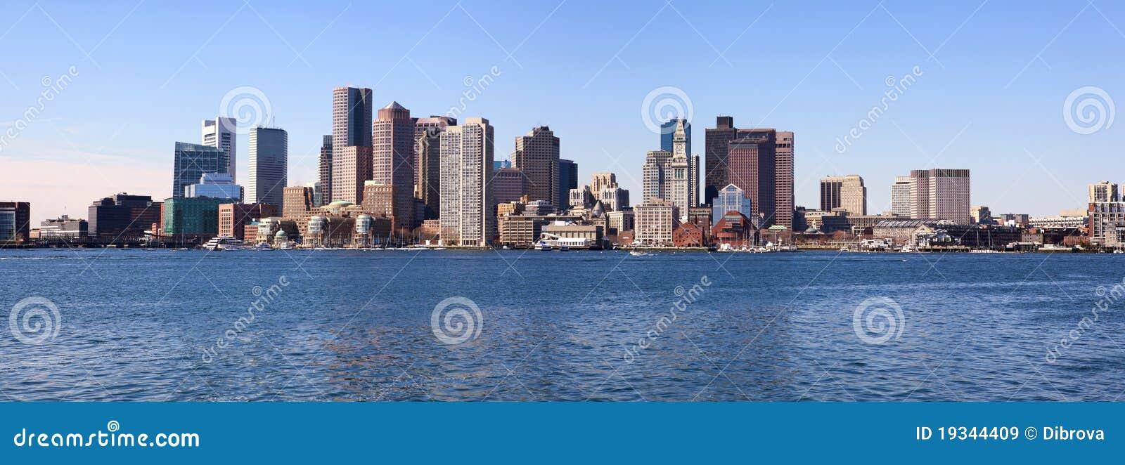 Bostonu panoramy linia horyzontu