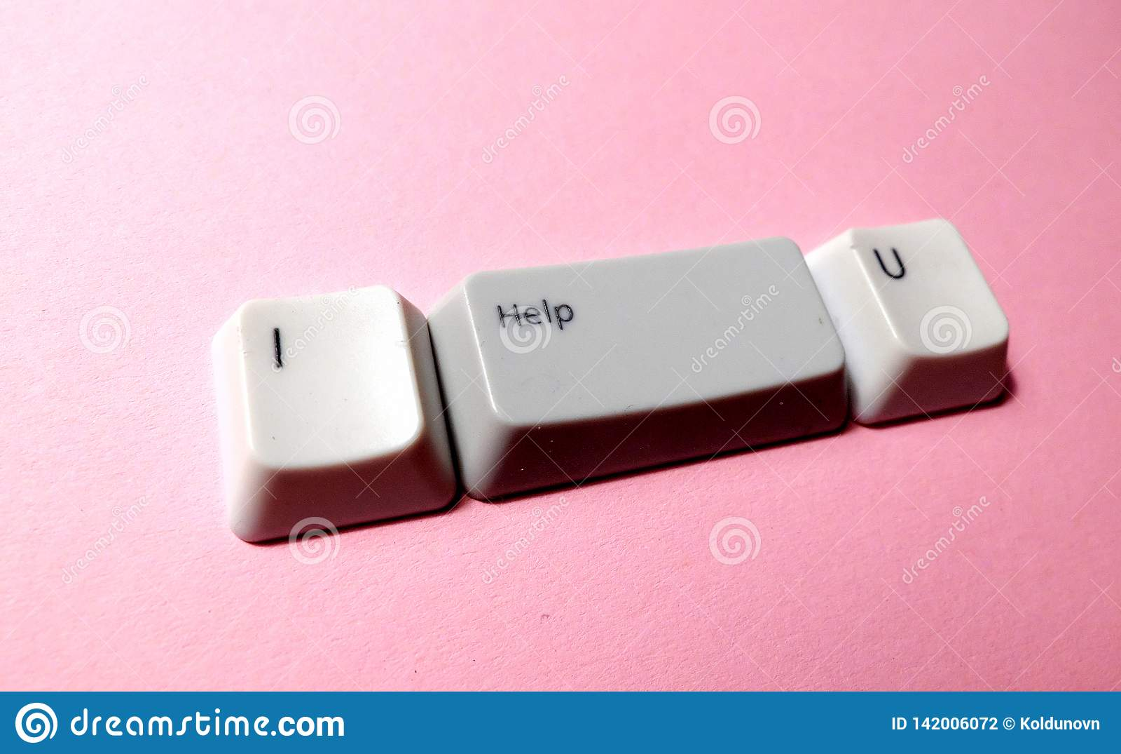 Botão da chave de computador com as palavras