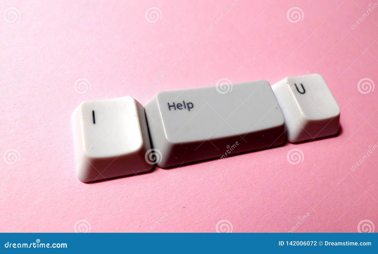 Botón de la llave de ordenador con las palabras