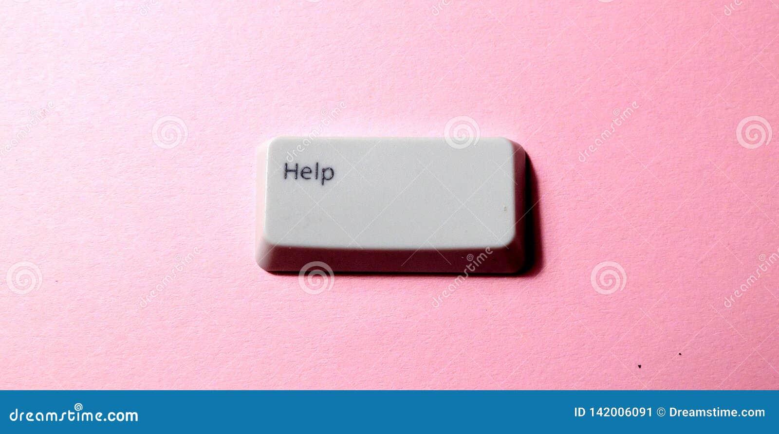 Botón de la llave de ordenador con la palabra